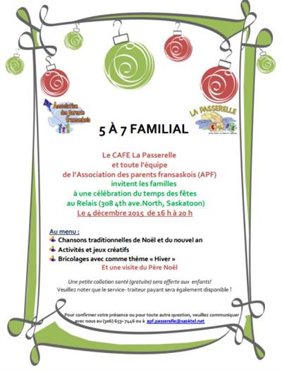 5 à 7 familial le 4 décembre 2015