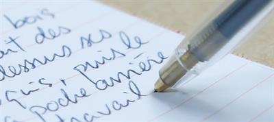 Feuille et stylo