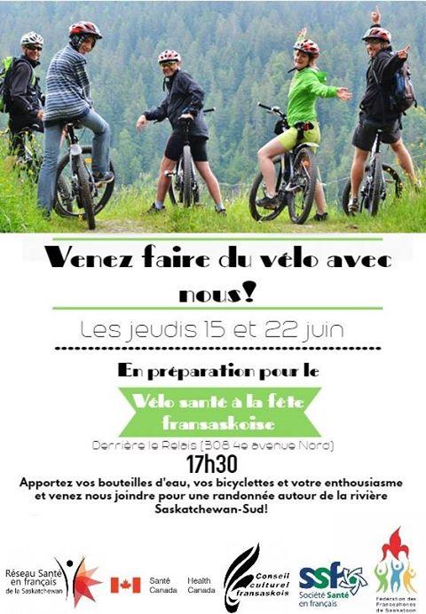 Venez faire du vélo
