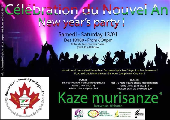 Célébration du Nouvel an de la communauté burundaise à Regina