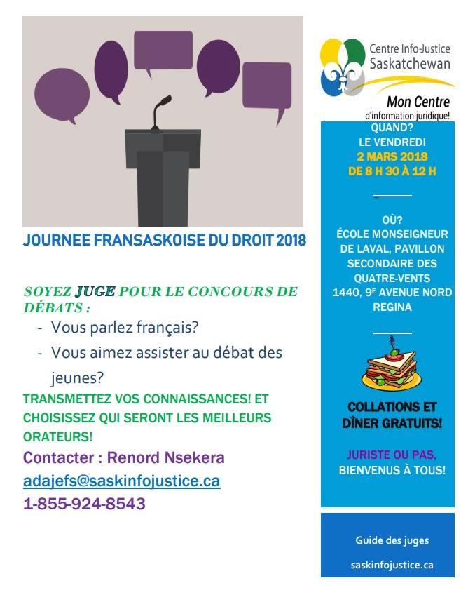 Journée fransaskoise du droit 2018