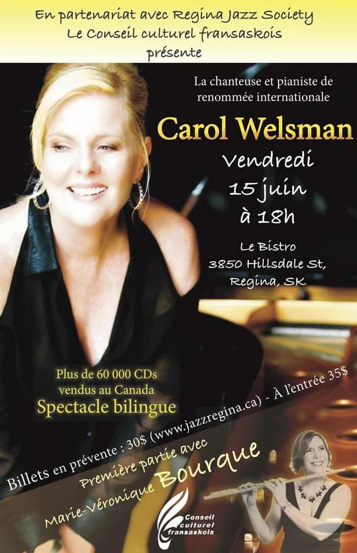 Soirée de jazz bilingue avec Carol Welsman et Marie-Véronique Bourque