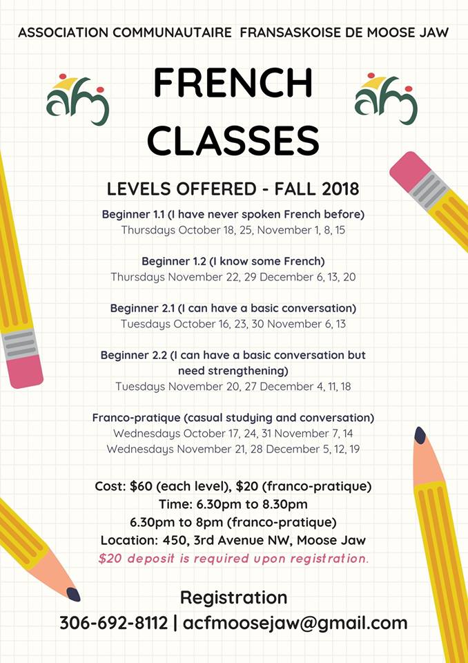 French classes - Fall 2018