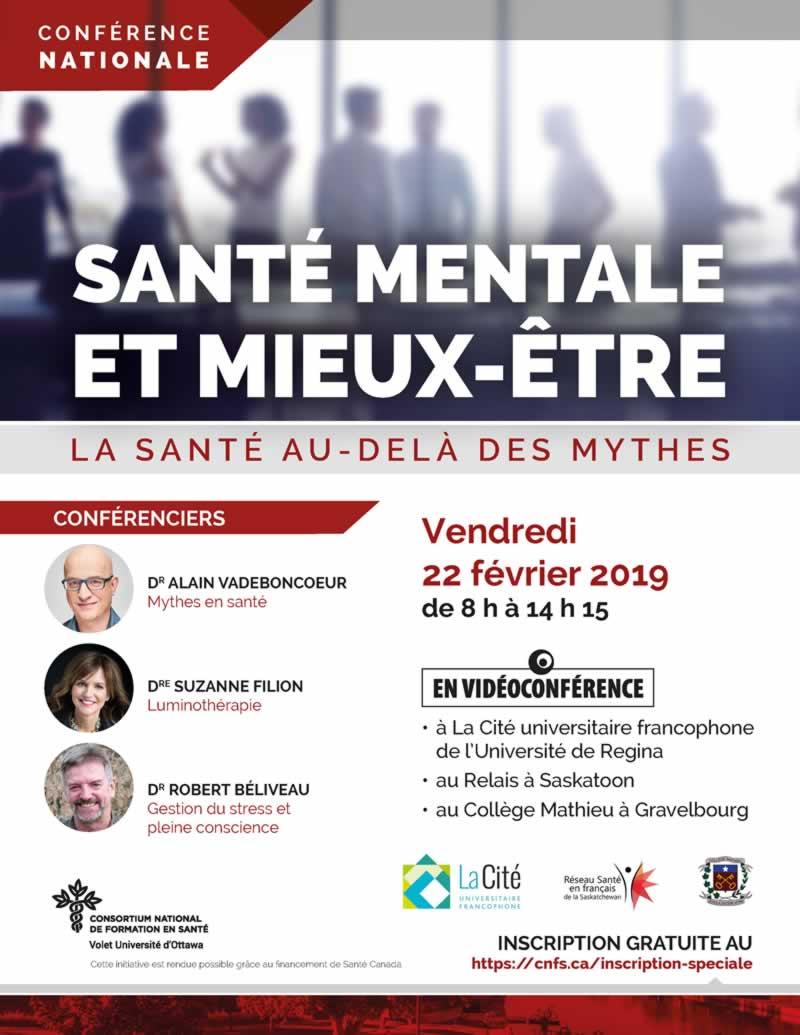 Conférence nationale : Santé mentale et mieux-être