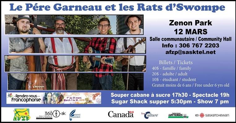 Père Garneau et Rats d'Swompe à Zenon Park
