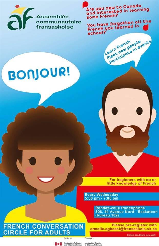 Cercles de conversation en français à Saskatoon