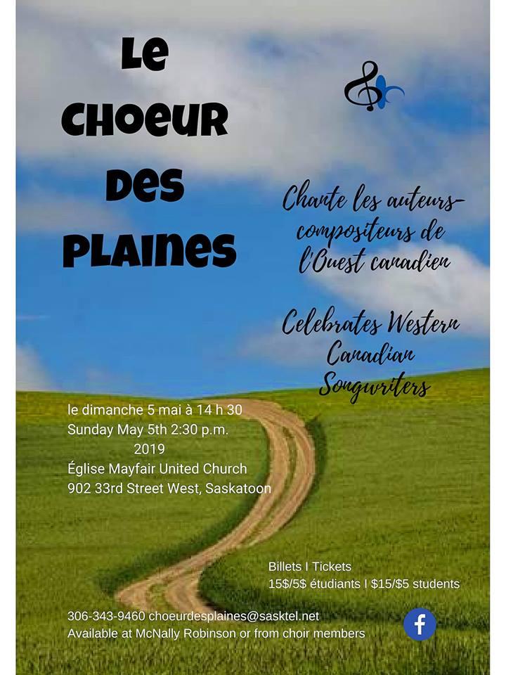 Le Choeur des Plaines chante les auteurs-compositeurs de l'Ouest