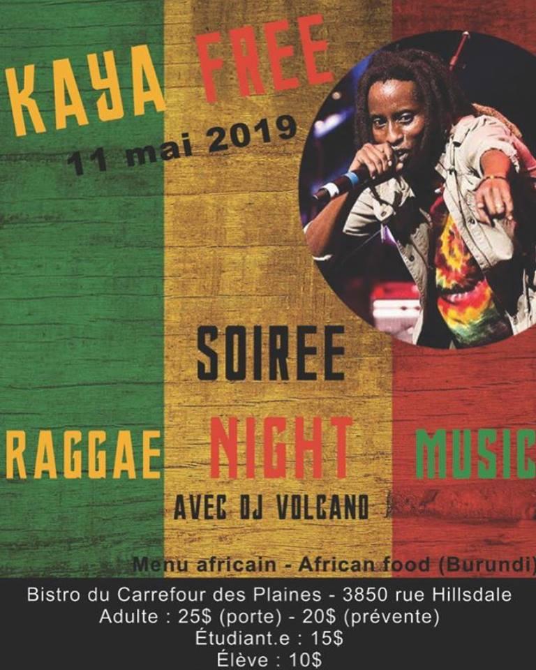 Soirée reggae avec Kaya Free à Regina